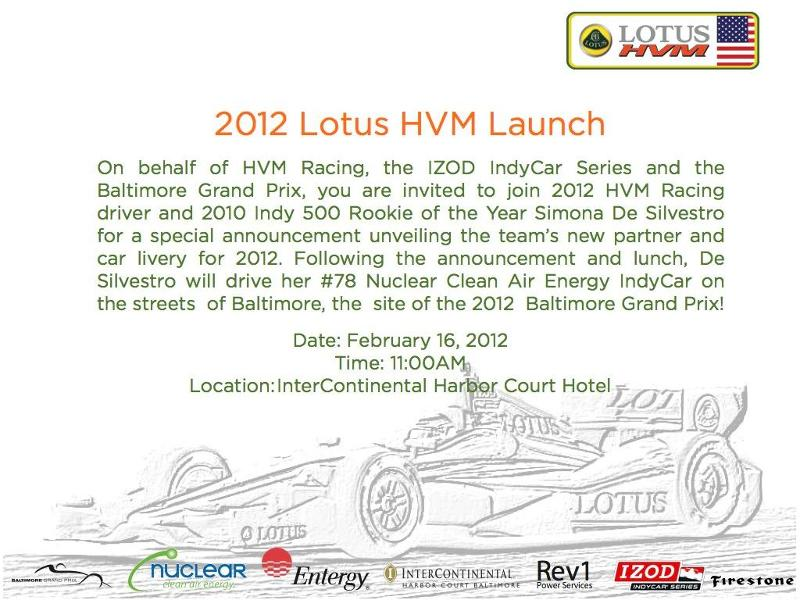 HVM Racing 2012 Launch